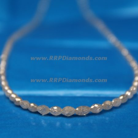 Long Drill White Faceted Loose Natural Long Diamond Beads