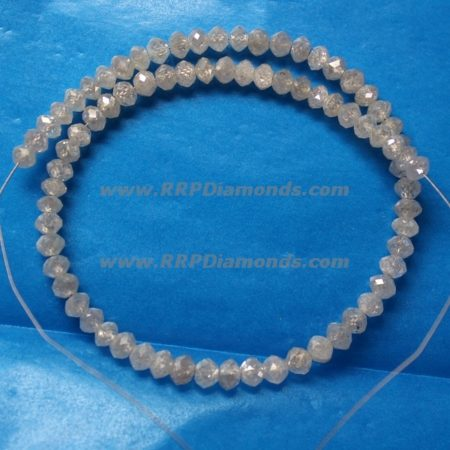 Carat Size White Faceted Drilled Natural Diamond Beads