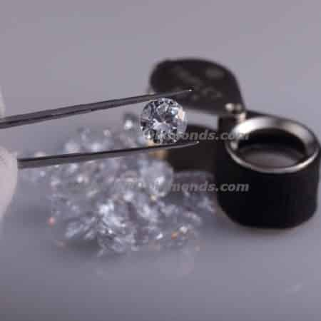 0.50 Carat & 5.00 MM D/E Color I Purity Natural Diamonds