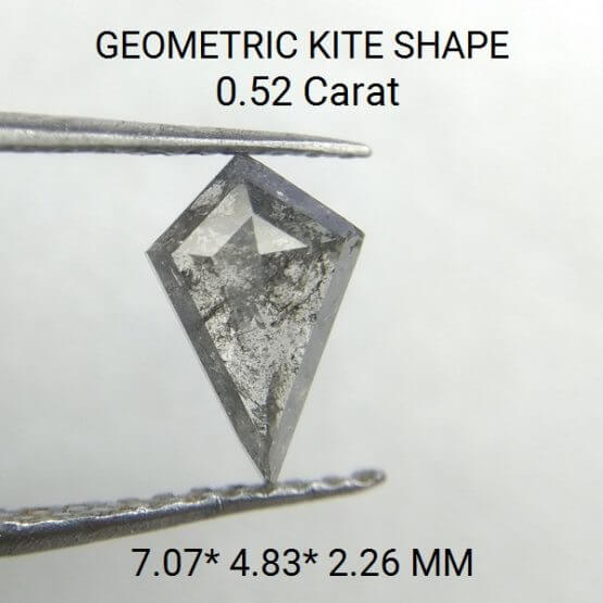 0.52 Carat Rose Cut Kite Shape Rustic Loose Cheap Diamond