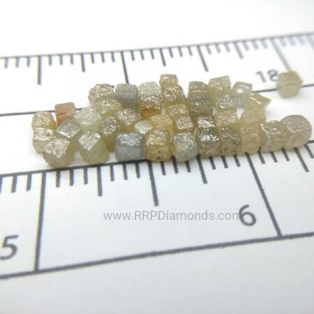 2-3 MM Congo Cubs Natural Uncut Diamond Beads