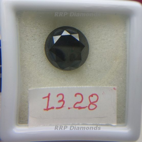 13 Carat Black Diamond in White Box