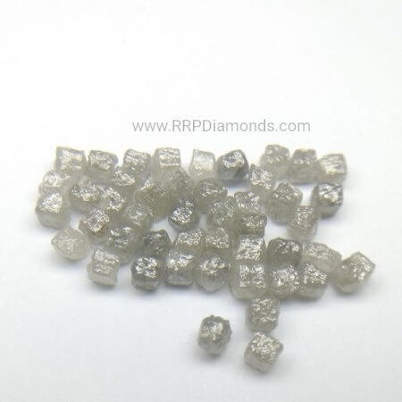 Dark Gray Color Congo Cubs Natural Uncut Raw Diamond Beads