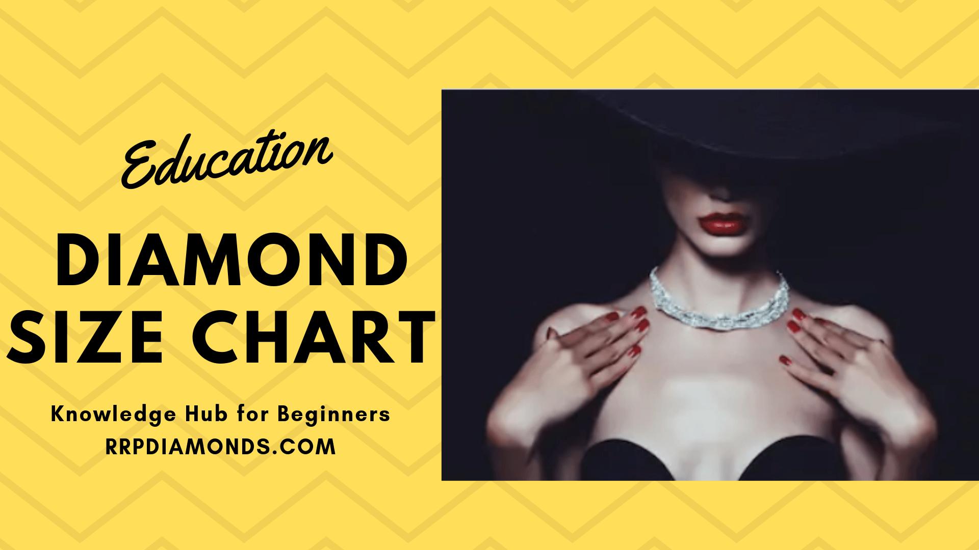 diamond size chart by rrp diamond