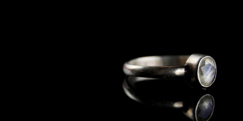 moonstone diamond ring